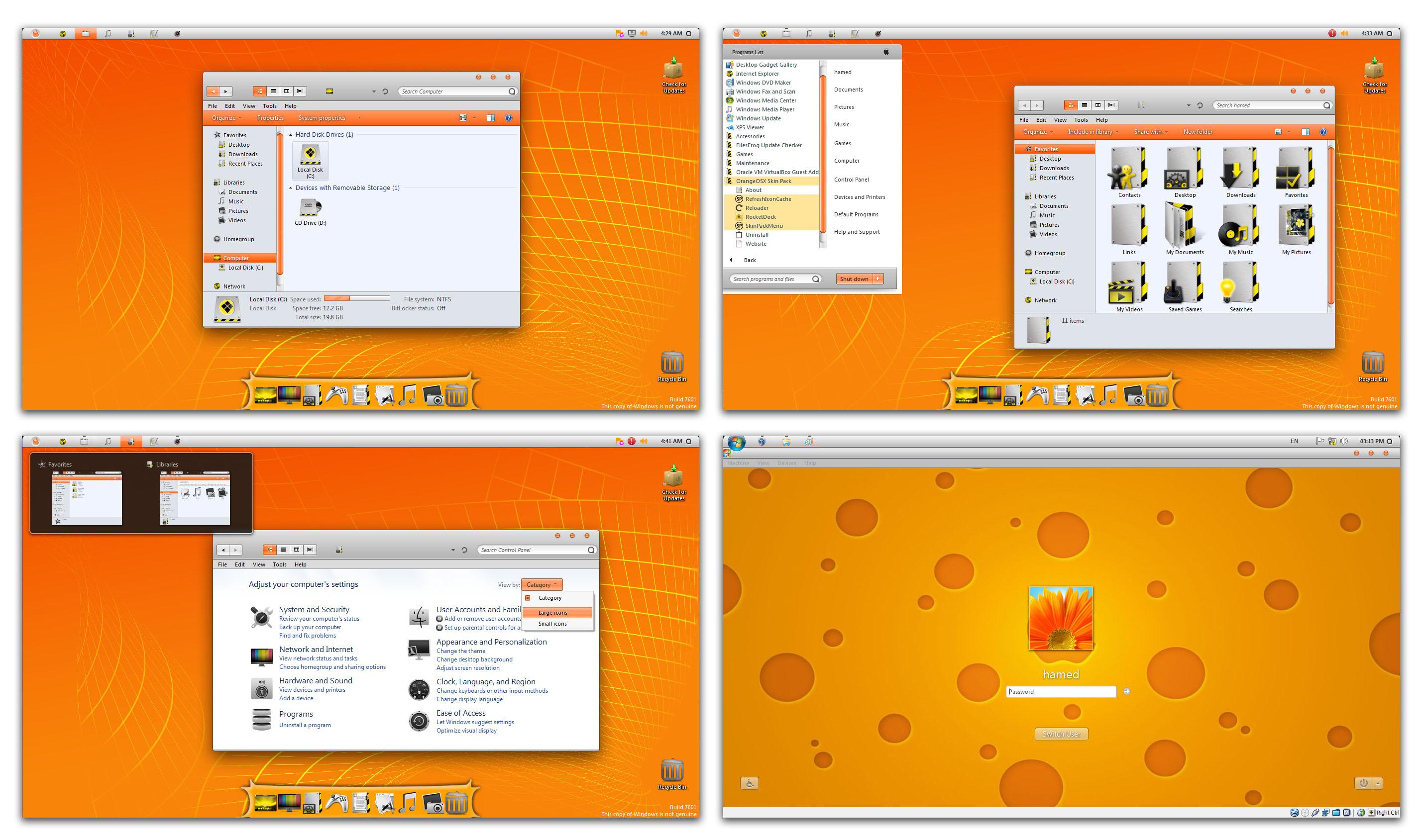 OrangeOSX Skin Pack | pchealthtools